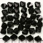 acrylic faceted conical 10 mm - black opaque