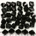 kunststof facet konisch 10 mm - zwart opaque