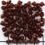 acrylic faceted conical 6 mm - dark brown