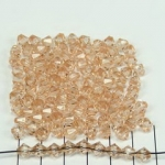 acrylic faceted conical 6 mm - light brown