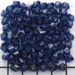 kunststof facet konisch 6 mm - donkerblauw