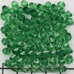acrylic faceted conical 6 mm - dark green