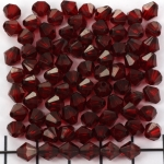 acrylic faceted conical 6 mm - dark red