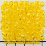acrylic faceted conical 6 mm - yellow