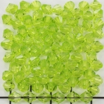 acrylic faceted conical 6 mm - light green