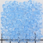 acrylic faceted conical 6 mm - light blue