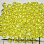 acrylic faceted conical 6 mm - light yellow