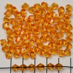 acrylic faceted conical 6 mm - orange