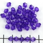acrylic faceted conical 6 mm - purple