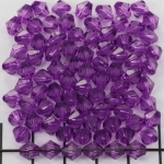 acrylic faceted conical 6 mm - eggplant purple