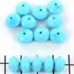 kunststof facet rondel 8 mm - opaque turquoise