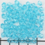 acrylic faceted conical 6 mm - turquoise