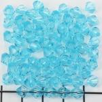 kunststof facet konisch 6 mm - turquoise