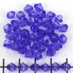 acrylic faceted conical 6 mm - blue purple
