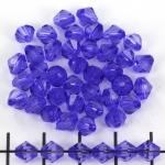 kunststof facet konisch 6 mm - blauw paars