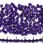 acrylic faceted conical 4 mm - purple