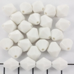 acrylic faceted conical 10 mm - white opaque