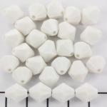kunststof facet konisch 10 mm - wit opaque