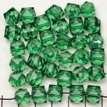 acrylic faceted cube - green