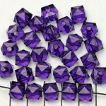acrylic faceted cube - purple