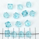 acrylic faceted cube - turquoise