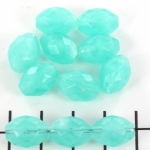 imitatie natuurstenen ovaal met facetten - turquoise