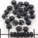 kunststof facet plat rond - doorzichtig zwart