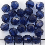 acrylic faceted round - dark blue