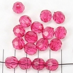acrylic faceted round - fuchsia
