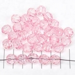 kunststof facet rond - roze