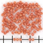 Tsjechisch facet rond 3mm - pink coral