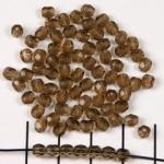 Tsjechisch facet rond 4 mm - bruin smoked topaz