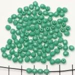 Tsjechisch facet rond 4 mm - turquoise