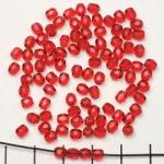 Tsjechisch facet rond 4 mm - gold ruby