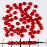 Tsjechisch facet rond 4 mm - rood siam