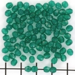 Tsjechisch facet rond 4 mm - alabaster malachite green