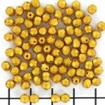Tsjechisch facet rond 4 mm - gold shine gold