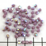 Czech faceted round 4 mm - opaque purple AB