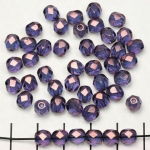 Czech faceted round 6 mm - purple