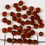 Czech faceted round 6 mm - brown