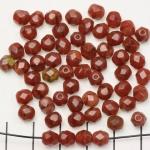 Tsjechisch facet rond 6 mm - bruin silk