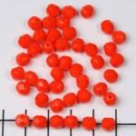 Tsjechisch facet rond 6 mm - oranje mat