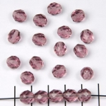 Czech faceted round 8 mm - light purple amethyst