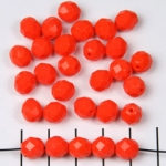 Czech faceted round 8 mm - orange matte