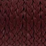 imitatie leer gevlochten 10 mm - bordeaux rood