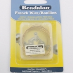 beadalon french wire - 0.6 mm goudkleurig