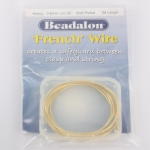beadalon french wire - 0.8 mm gold