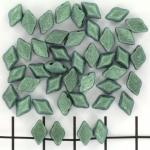 gemduo - metallic suede light green