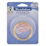 beadalon german style wire square 24 gauge - tarnish resistant brass