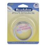 beadalon german style wire square 24 gauge - stainless steel